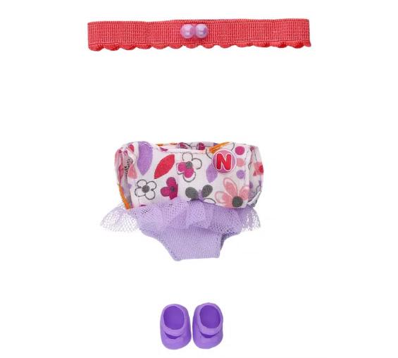 Vestido ksimerito short lila y rosa